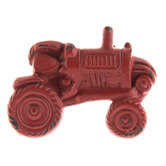 Red Tractor Metal Knob